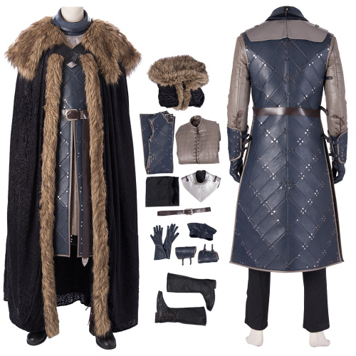 Jon Snow Costume Game of Thrones 8 Cosplay High Quality Fashion Full Set