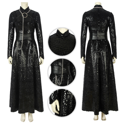 Sansa Stark Costume Game of Thrones Season 8 Cosplay Black Color