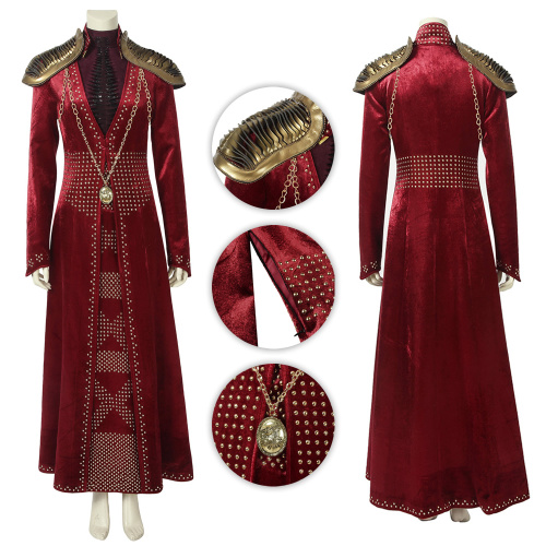 Cersei Lannister Costume Game of Thrones Season 8 Cosplay