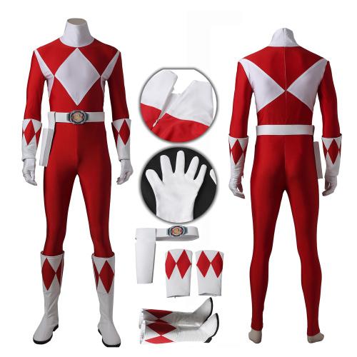 Red Ranger Tyranno Ranger Costume Power Rangers Cosplay Geki Full Set Custom Made