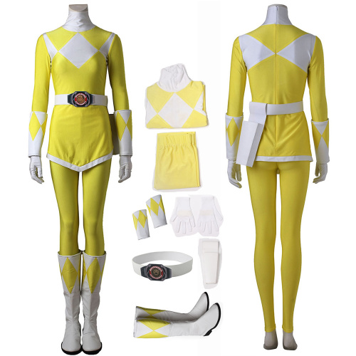 Yellow Ranger Tiger Ranger KYORYUSENTAI ZYURANGER Costume Power Rangers Cosplay Boy Full Set