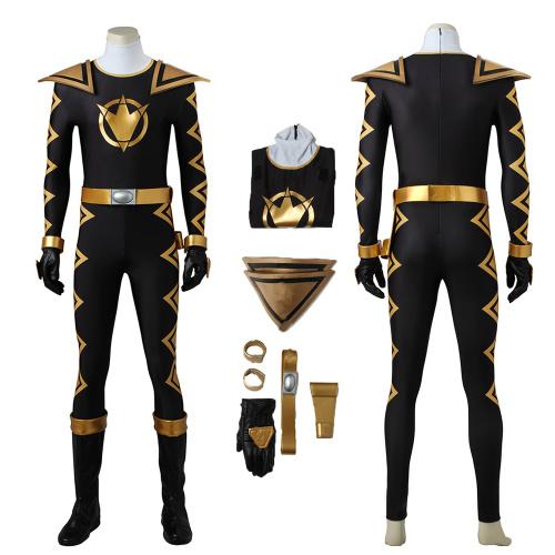 Black Ranger Costume Power Rangers Dino Thunder Cosplay Asuka Full Set